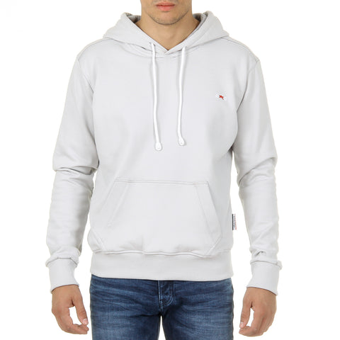 Andrew Charles New York Mens Hoodie Long Sleeves Round Neck Light Grey FIFI