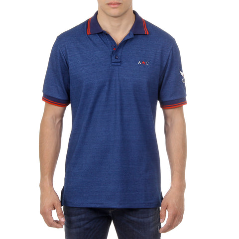Andrew Charles New York Mens Polo Short Sleeves Blue STEVE