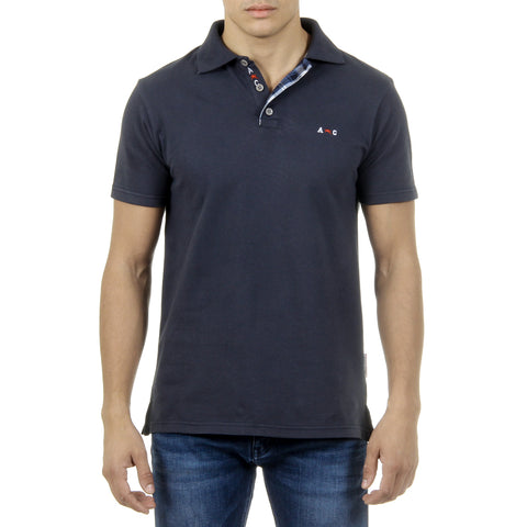 Andrew Charles New York Mens Polo Short Sleeves Dark Blue SEMELO