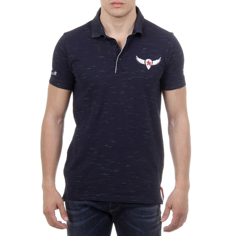 Andrew Charles New York Mens Polo Short Sleeves Dark Blue THOMAS