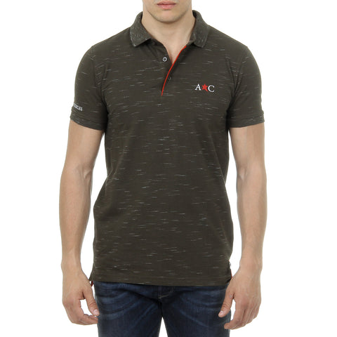 Andrew Charles New York Mens Polo Short Sleeves Dark Green RYAN