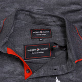 Andrew Charles New York Mens Polo Short Sleeves Dark Grey JULIAN