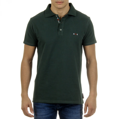 Andrew Charles New York Mens Polo Short Sleeves Green SEFU