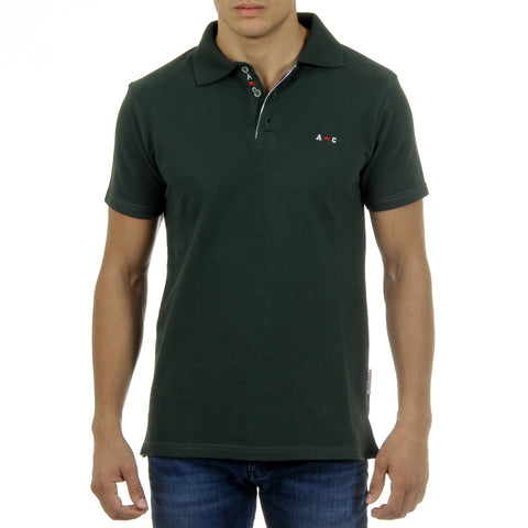 Andrew Charles New York Mens Polo Short Sleeves Green SEMELO