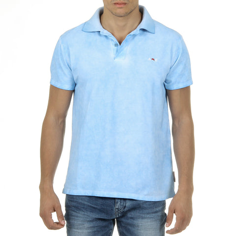 Andrew Charles New York Mens Polo Short Sleeves Light Blue SIMBA