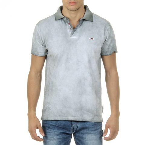 Andrew Charles New York Mens Polo Short Sleeves Light Grey SIMBA