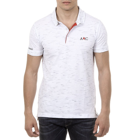 Andrew Charles New York Mens Polo Short Sleeves White RYAN