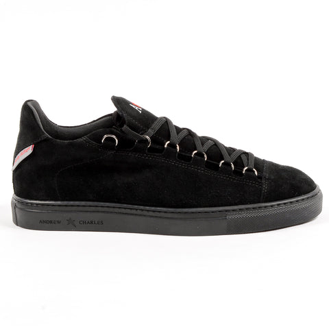 Andrew Charles New York Mens Sneaker Black PRINCE