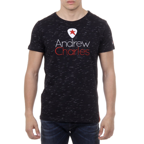 Andrew Charles New York Mens T-Shirt Short Sleeves Round Neck Black JACK