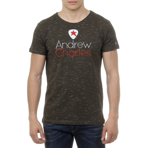 Andrew Charles New York Mens T-Shirt Short Sleeves Round Neck Dark Green JACK