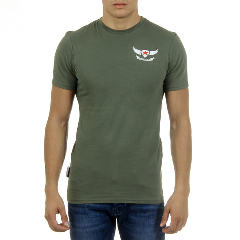 Andrew Charles New York Mens T-Shirt Short Sleeves Round Neck Green KEITA