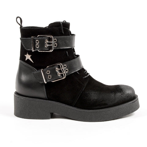 Andrew Charles New York Womens Ankle Boot Black JOAN