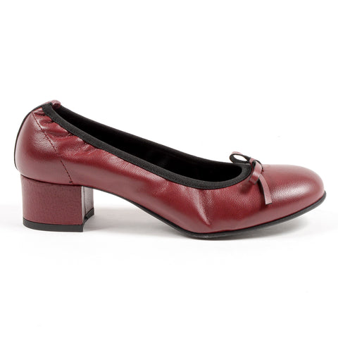 Andrew Charles New York Womens Ballerina Bordeaux NICKI