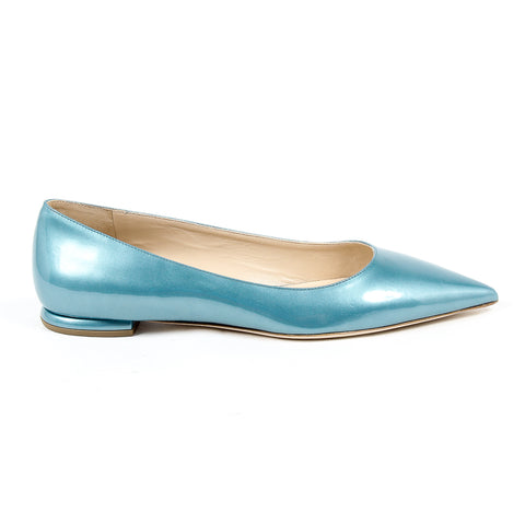 Andrew Charles New York Womens Ballerina Light Blue SONIA