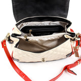 Andrew Charles New York Womens Handbag Beige DOMINIQUE