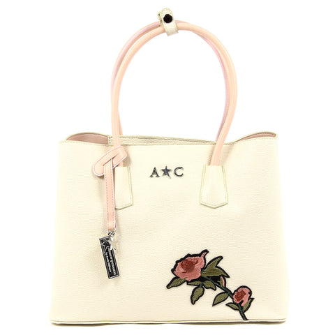 Andrew Charles New York Womens Handbag Beige GEORGIA