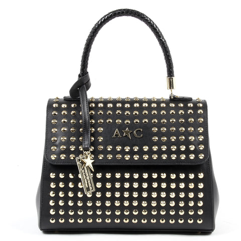 Andrew Charles New York Womens Handbag Black ASHLIN