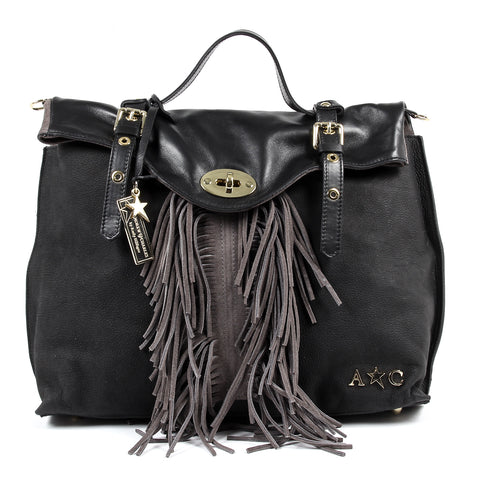 Andrew Charles New York Womens Handbag Black LUCY