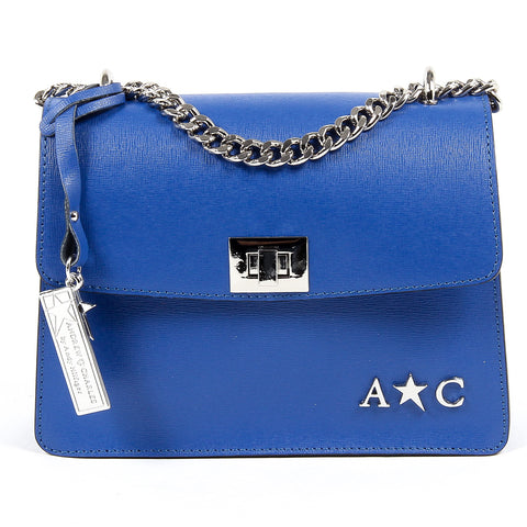 Andrew Charles New York Womens Handbag Blue MELODY