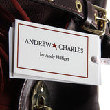 Andrew Charles New York Womens Handbag Bordeaux LUCY