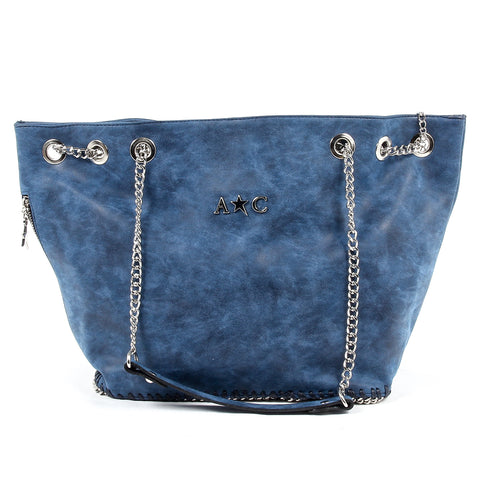 Andrew Charles New York Womens Handbag Dark Blue KIARA