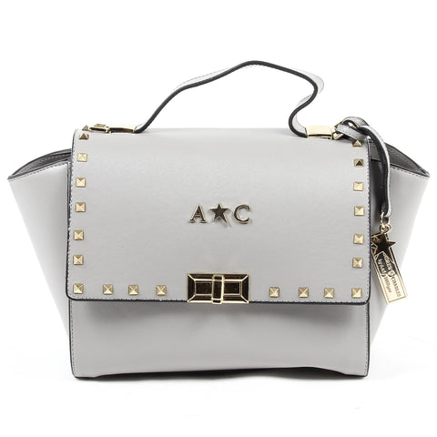 Andrew Charles New York Womens Handbag Light Grey JAIME