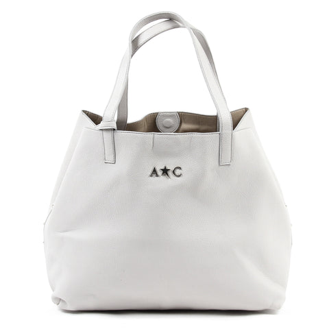 Andrew Charles New York Womens Handbag Light Grey RACHEL