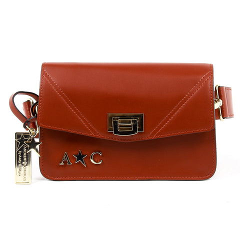 Andrew Charles New York Womens Handbag Red CAITLYN