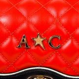 Andrew Charles New York Womens Handbag Red DOMINIQUE