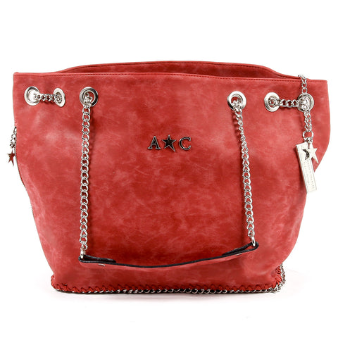 Andrew Charles New York Womens Handbag Red KIARA