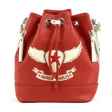 Andrew Charles New York Womens Handbag Red LUCINDA