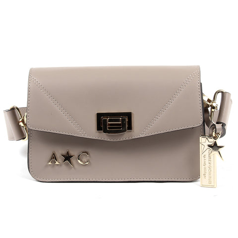 Andrew Charles New York Womens Handbag Taupe CAITLYN