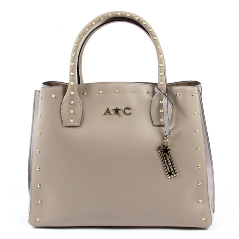 Andrew Charles New York Womens Handbag Taupe NELLY