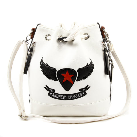 Andrew Charles New York Womens Handbag White LUCINDA