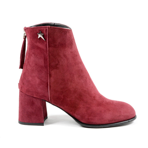Andrew Charles New York Womens Heeled Ankle Boot Bordeaux LINDA