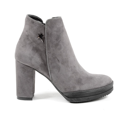Andrew Charles New York Womens Heeled Ankle Boot Grey SHERYL
