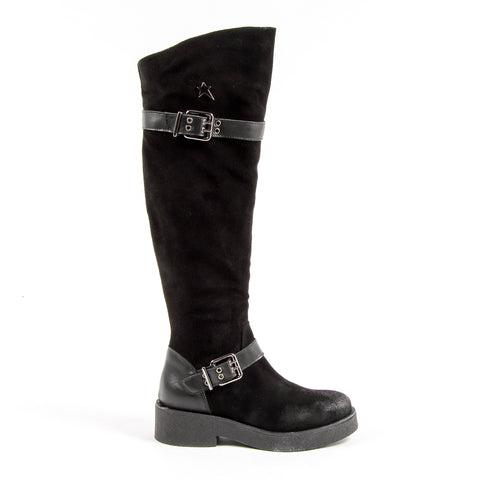 Andrew Charles New York Womens High Boot Black ALANIS