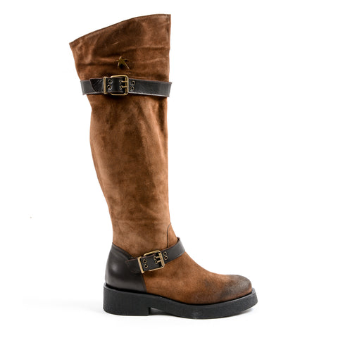 Andrew Charles New York Womens High Boot Brown ALANIS