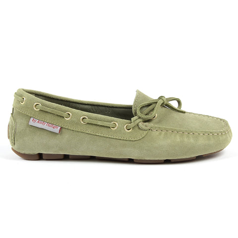 Andrew Charles New York Womens Loafer Green CAMILLA