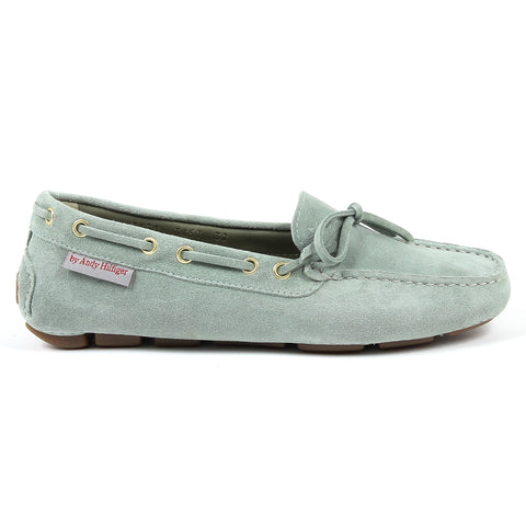 Andrew Charles New York Womens Loafer Green VICTORY