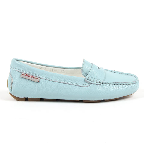 Andrew Charles New York Womens Loafer Light Blue MAX