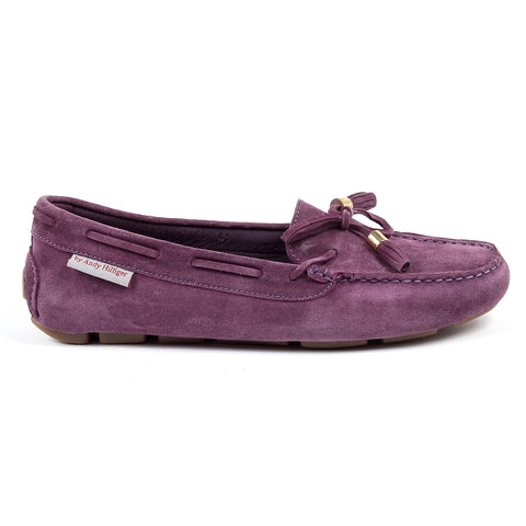 Andrew Charles New York Womens Loafer Purple VICTORY