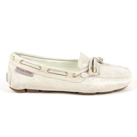 Andrew Charles New York Womens Loafer White SUNDAY