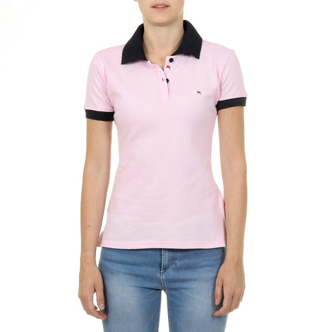 Andrew Charles New York Womens Polo Short Sleeves Pink NIA