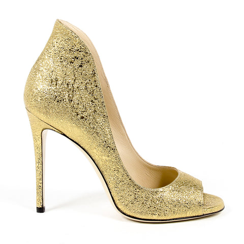 Andrew Charles New York Womens Pump Open Toe Gold DAFNE