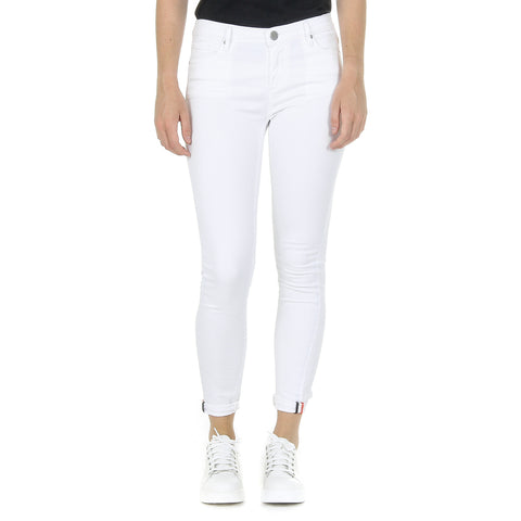 Andrew Charles New York Womens Trousers White CLAIRE