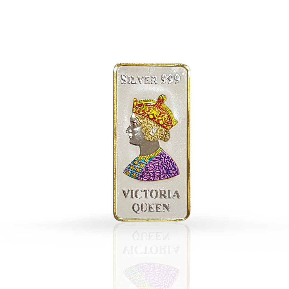 Silver Bar Queen Victoria 100 gram 999 Purity