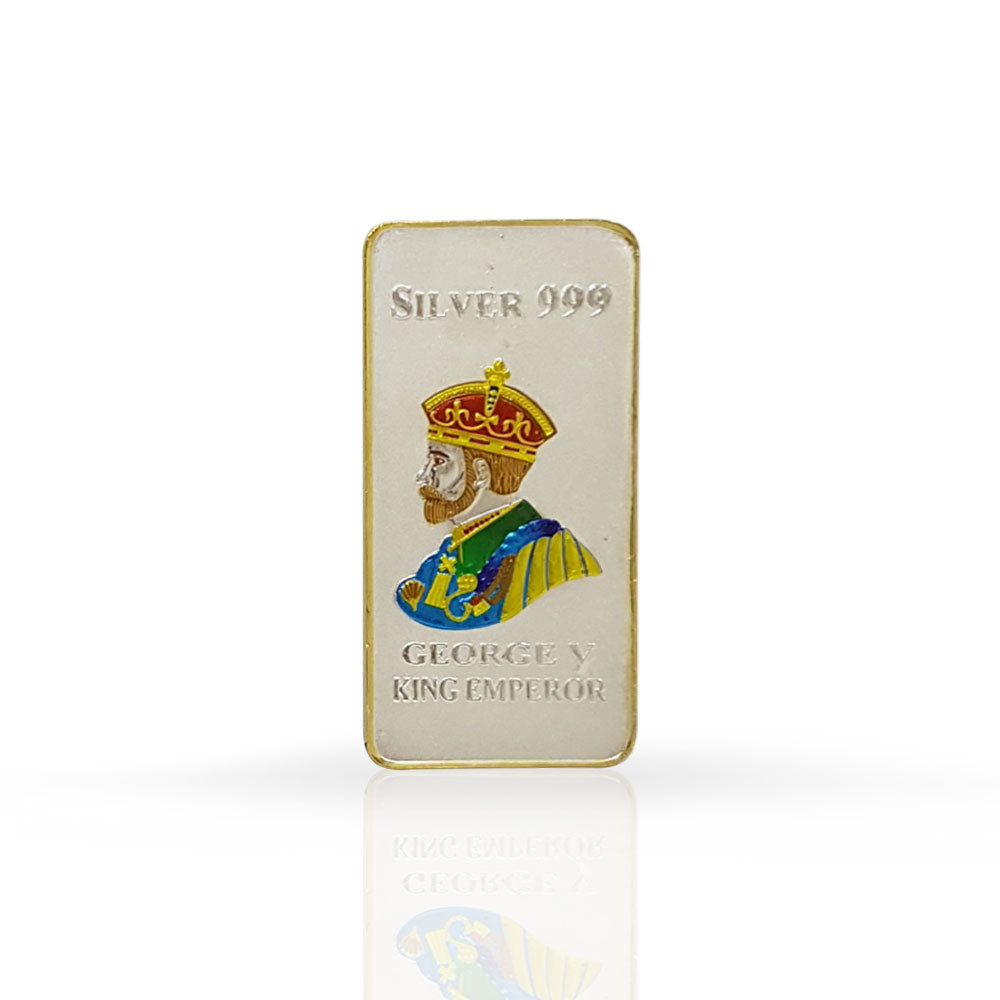 Silver Bar King Georgey 100 gram 999 Purity