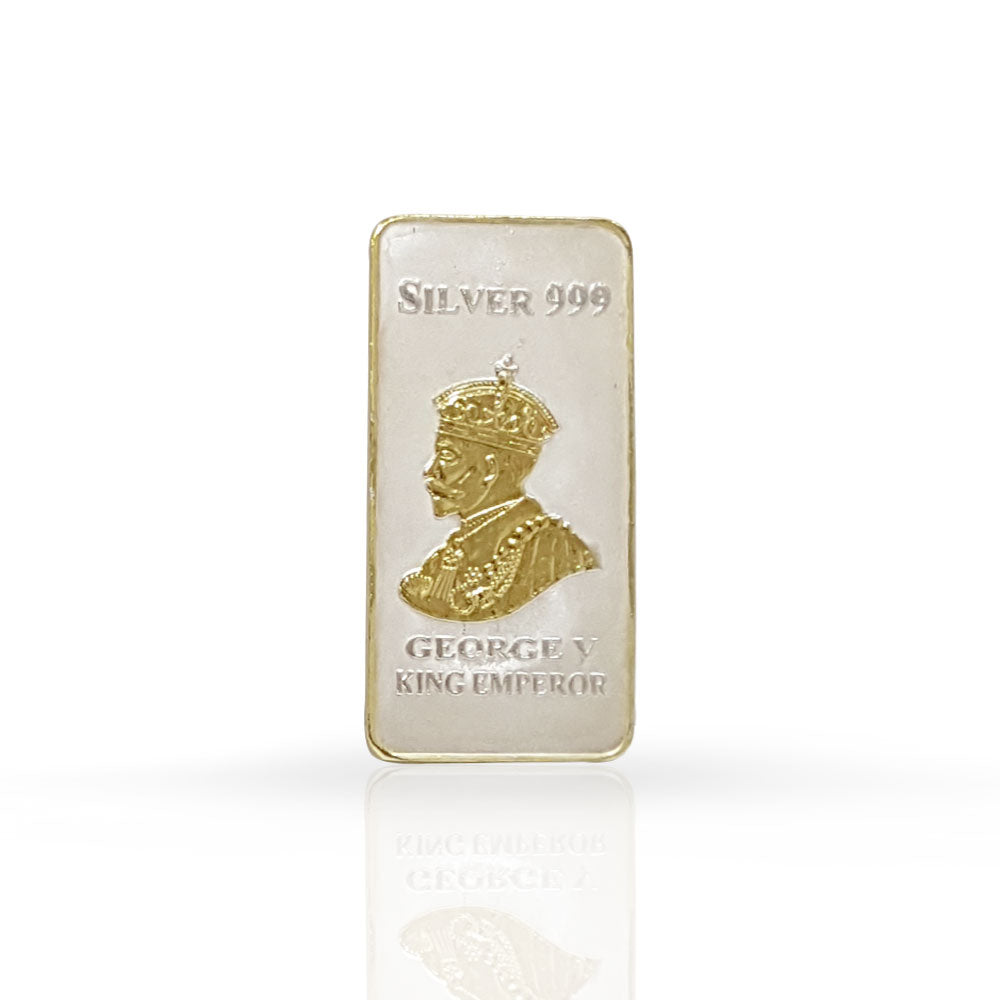 Silver Bar King Georgey 50 gram 999 Purity