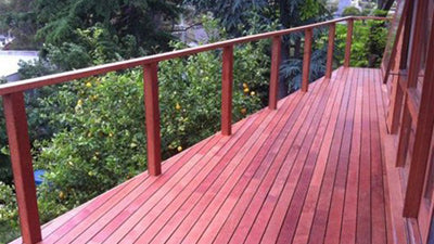 Deck-Mates - Merbau decking stained with Intergrain Deck Oil